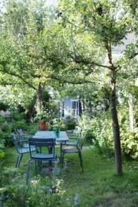 jardin cadre romantique