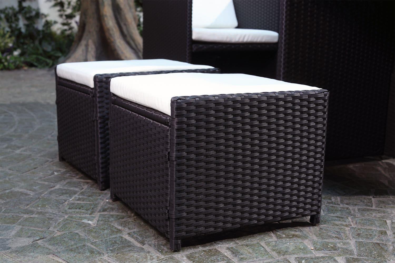 pensez au pouf pour r ussir l 39 am nagement de votre salon de jardin. Black Bedroom Furniture Sets. Home Design Ideas